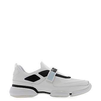 Prada White Leather Sneakers