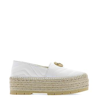 Gucci White Leather Espadrilles