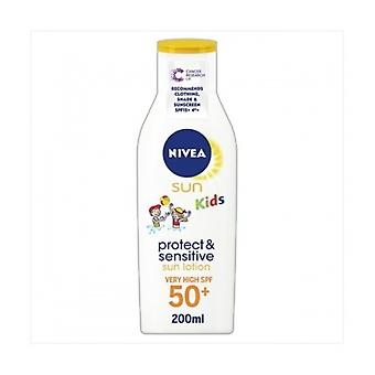 Nivea [Sun] Kids Pure & Sens Lotion F50 200Ml