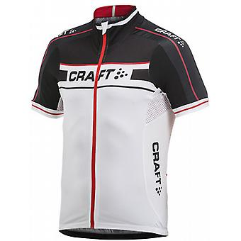 Craft Grand Tour Mens Short Sleeve Jersey White/Black/Red