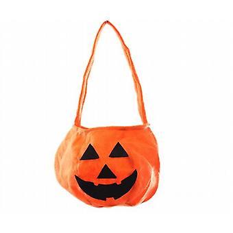 Felt Pumpkin Shaped Trick-Or-Treat Bag Halloween Gift Loot 2 Pack - (SC5628)