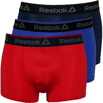 Reebok 3er-Pack Sport Performance Boxer Trunks, Marine/rot/Kobalt