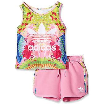 Adidas Originals noworodków Girls Trefoil zbiornika i szorty zestaw - AJ0024