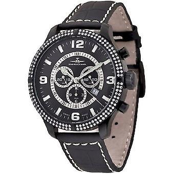 Zeno-watch reloj OS retro Chrono Parisienne Negro 8830Q-bk-h1