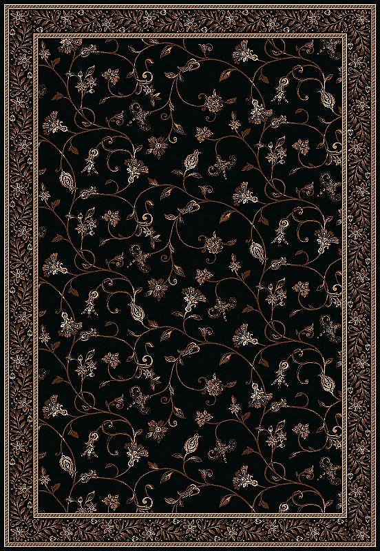 Kamira Midnight 4140-799 Black ground with gold and beige Rectangle Rugs Traditional Rugs