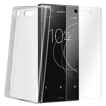 Back case + Screen Protector Tempered Glass Clear Sony Xperia XZ1 Compact