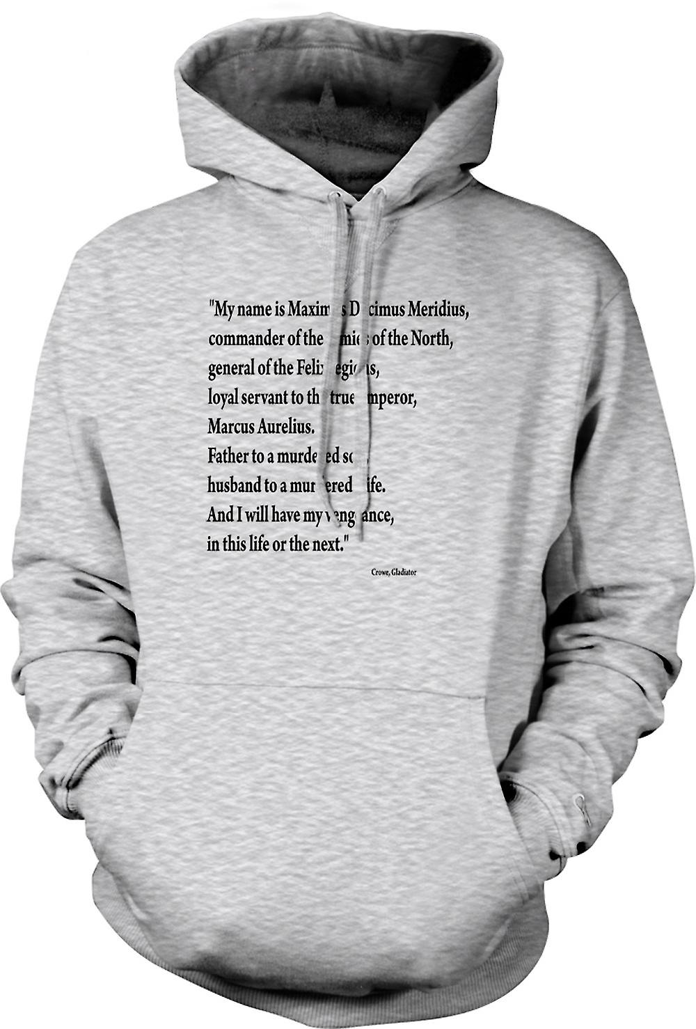 Mens Hoodie - Gladiator - Quote - Russell Crowe