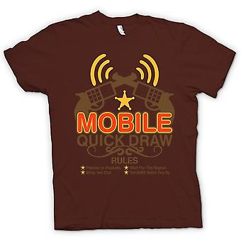 Kids T-shirt - Mobile Quick Draw Rules - Funny