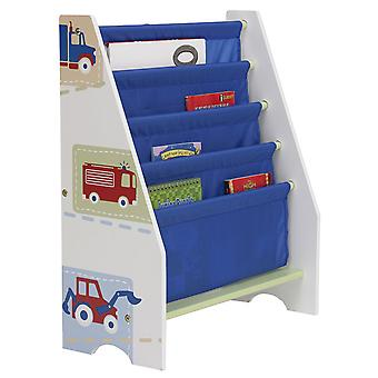 Boys Vehicles Sling Bookcase