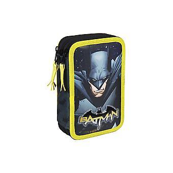 Batman Triple School set filled pencil case 43-Delars