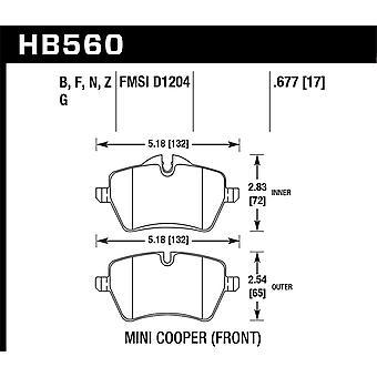 Hawk Performance HB560N.677 HP Plus