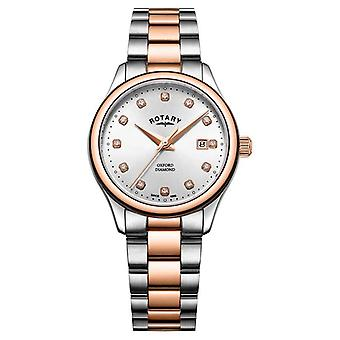 Rotary | Women's Oxford | Two-Tone Stainless Steel | Silver Sunray LB05094/70/D Watch