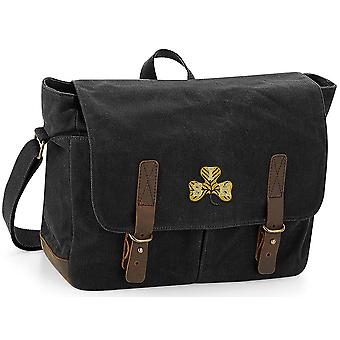 South Irish Horse - Licensed British Army Embroidered Waxed Canvas Messenger Bag