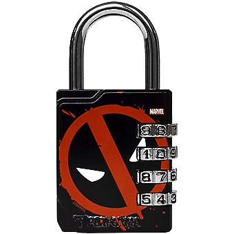 Performa Ultra Premium Embossed 4-Dial Combination Gym Lock - Deadpool