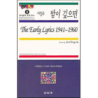 The Early Lyrics 1941-1960: Poems (Cornell East Asia Series)