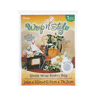1 klare Shrink Wrap Geschenktüte für Korb Körbe - 60,9 x 76 cm