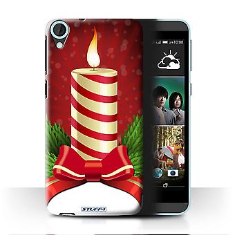 STUFF4 Tilfelle/Cover for HTC Desire 820q dobbelt/lys/Advent/Christmas dekorasjoner