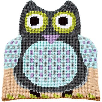 Owl Shaped Cushion Cross Stitch Kit-15.75