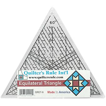 Quilter's Equilateral Triangle Ruler 7 3 4
