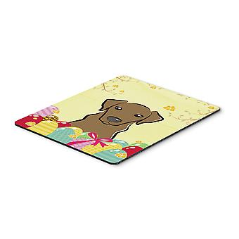 Chocolate Labrador Easter Egg Hunt Mouse Pad, Hot Pad or Trivet BB1916MP