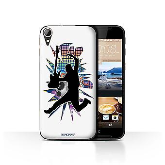STUFF4 Case/Cover for HTC Desire 830/Leap/Jump White/Rock Star Pose