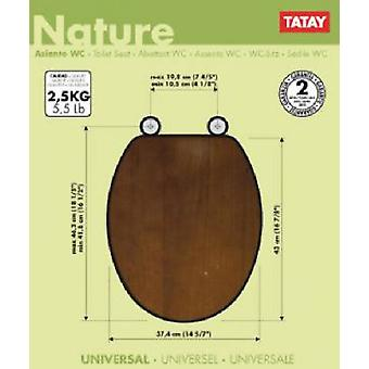 Tatay Toilet Seat Wood Finishing Walnut Nature (Home , Bathroom , Bathroom accessoires)