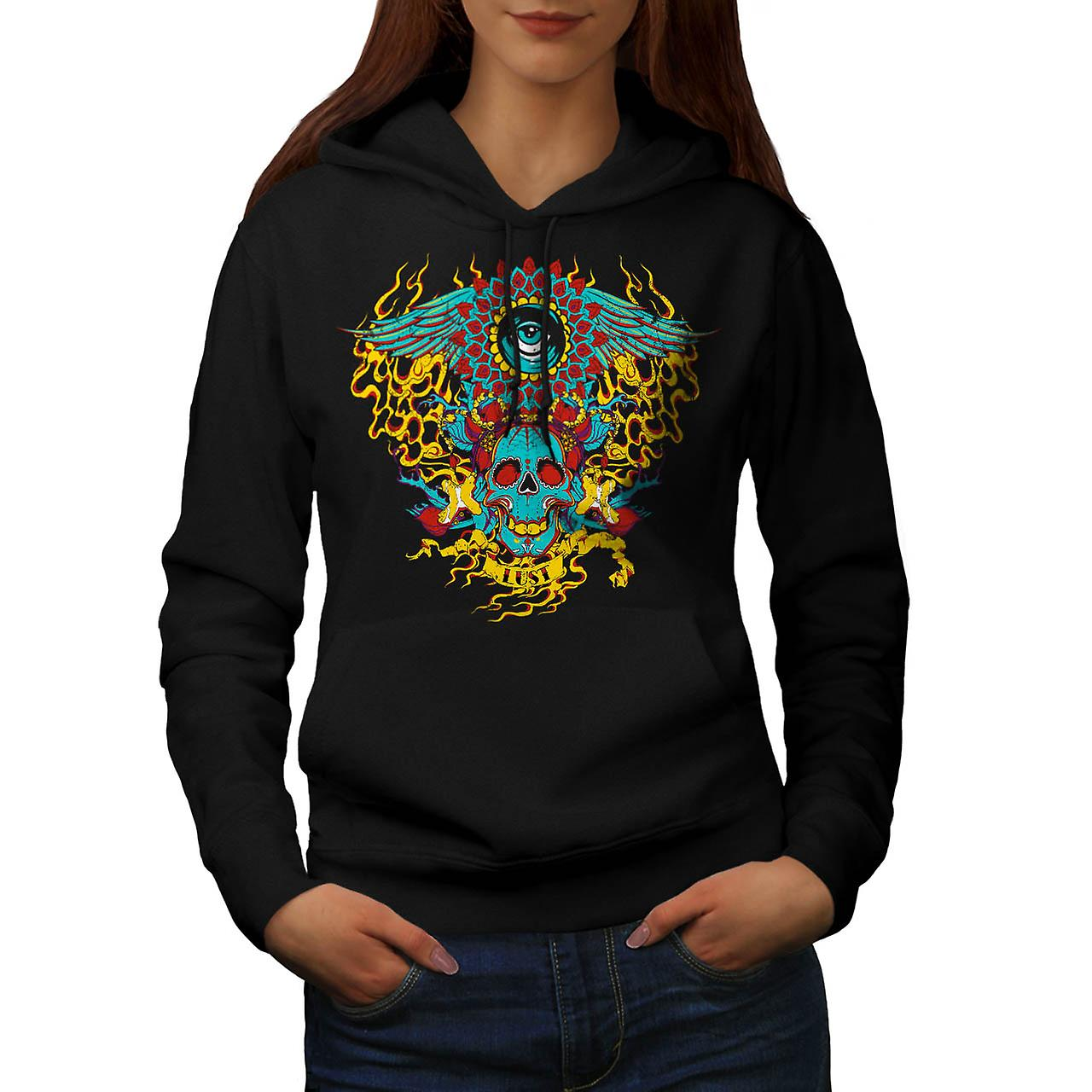 Lust Devil Demon Lair Satan Hell Women Black Hoodie | Wellcoda