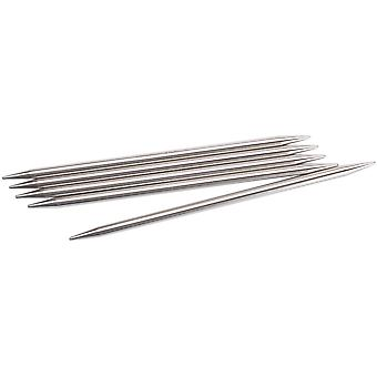 Double Point Stainless Steel Knitting Needles 6