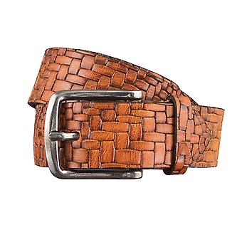 ALBERTO braided pressure belts men's belts leather belt Brown 3070