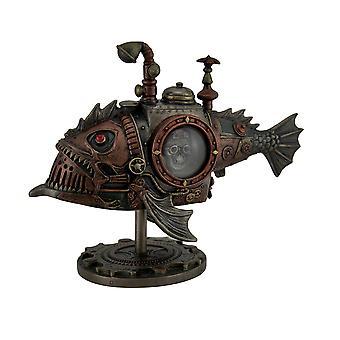 Håndmalt Steampunk ubåten Sci-fi Fantasy statuen