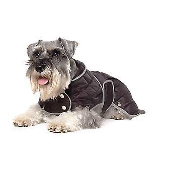 Muddy Paws Diamond Quilt Coat Black Lge