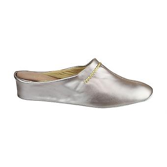 Cincasa Menorca Ladies Slippers Mules Textile Leather Slip On Fatening Footwear