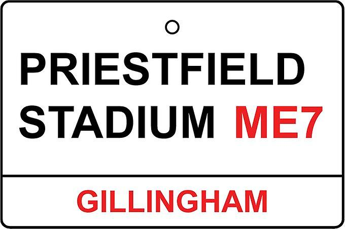 Gillingham / Priestfield Stadium Street Sign Car Air Freshener