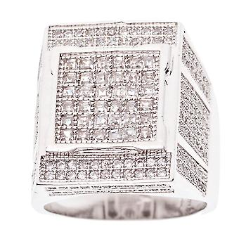 Iced out bling micro pave ring - FANCY