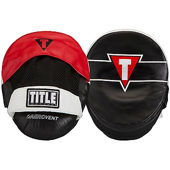 Title Boxing Zero Impact Precision Leather Micro Punch Mitts - Black/Red