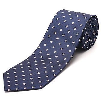 Luciano Barbera mænd Slim silke hals Tie Navy Pink hvid