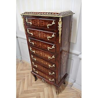 Chest of drawers baroque cabinet Louis xv antique style MkSm0023