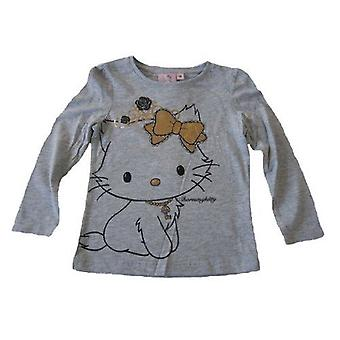 Sanrio Gold Hello Kitty - Charmmy Girls Long Sleeve TopT-Shirt