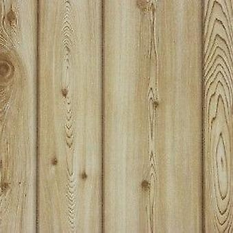 Pine Wood Effect Wallpaper Wooden Plank Boards Realistic Textured Brown Erismann