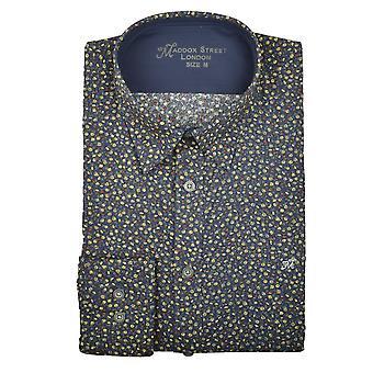 Maddox Street Thames blomster Print Herre skjorte