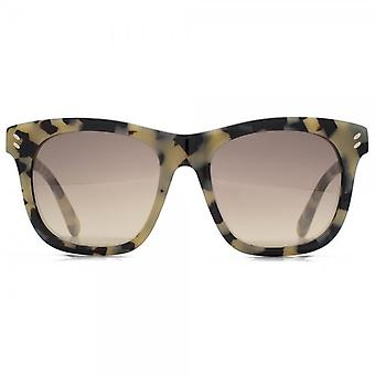 Stella McCartney Essentials Oversize Square Sunglasses In Beige Havana