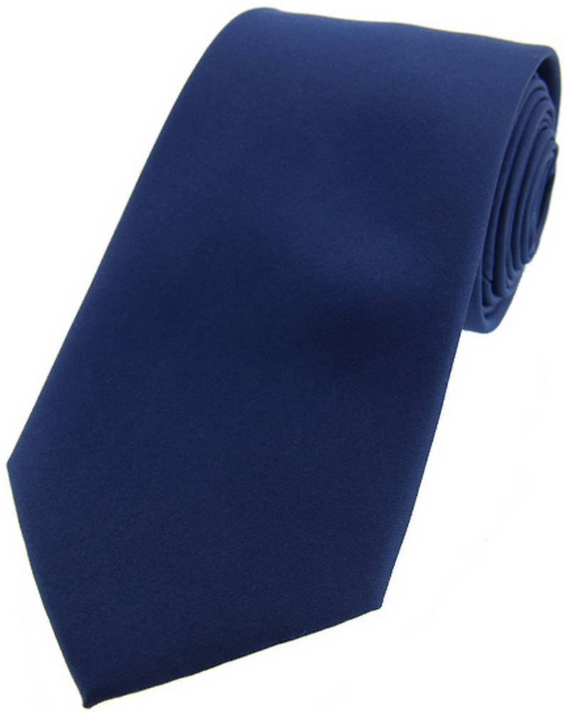 David Van Hagen Satin Silk Tie - Navy