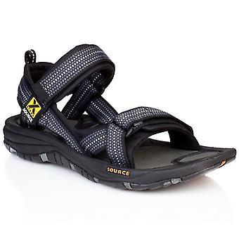 Kilde Gobi sandal mænd skak sort - 10202128