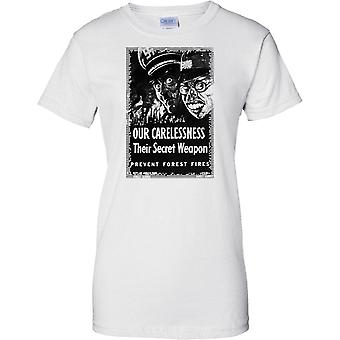 Our Carlessness - WW2 Propaganda Poster - Allied World War - Ladies T Shirt