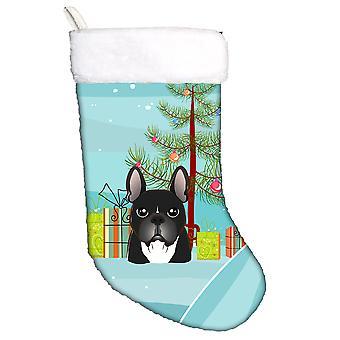 Weihnachtsbaum und Französisch Bulldog Christmas Stocking