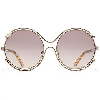 Chloe Isadora Round Sunglasses In Rose Gold Peach