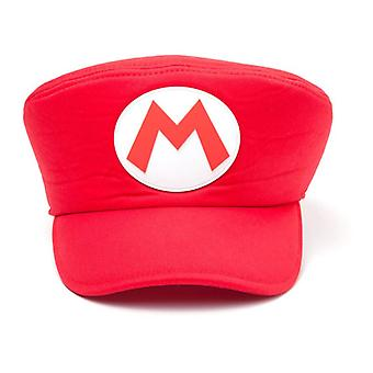 Nintendo Super Bros Shaped Mario Logo Flat Cap - Red (HA100502NTN)