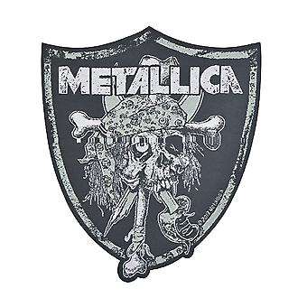Metallica Raiders Skull Woven Patch