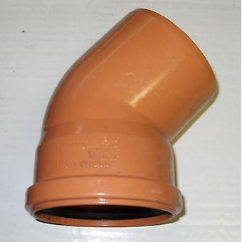 Soil Pipe 160 mm - 45 degree Bend - Push-Fit - Underground - Brown - 6''