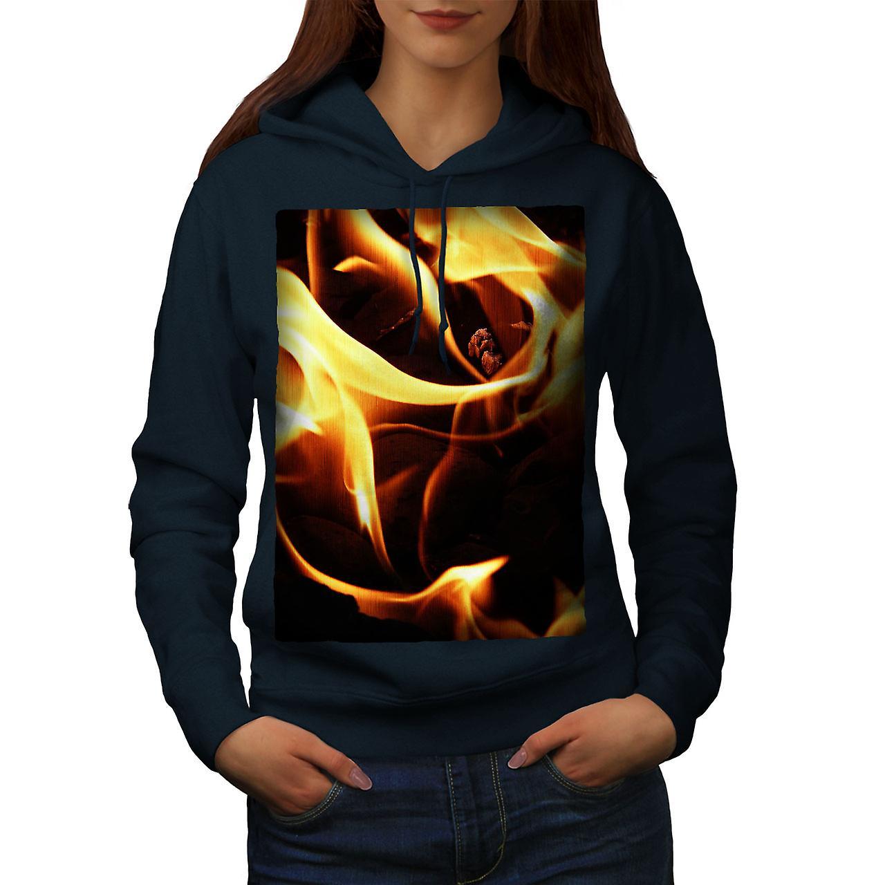 Flammes brûlent Art NavyHoodie femmes